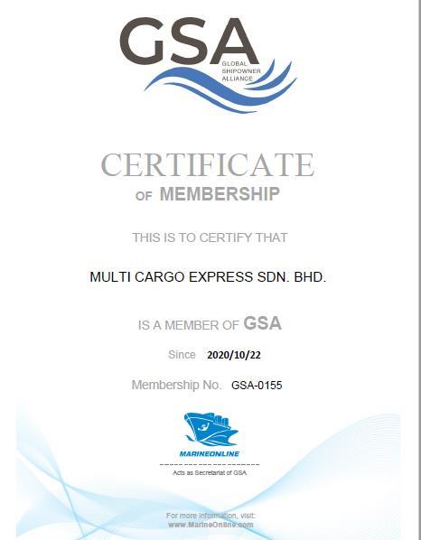 Multi cargo GSA Cert