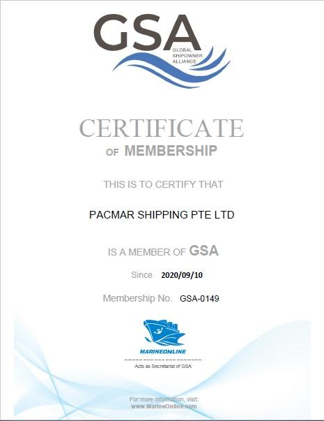 Pacmar Shipping GSA Cert