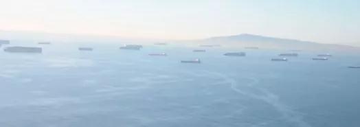 美港口有多堵?上百艘货轮停泊海上无法进港